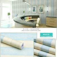 Stripe Kayu Rustic Biru 45cm x 10mtr wallpaper sticker