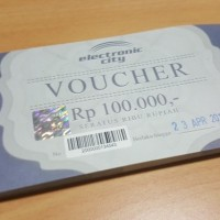 30 Voucher Electronic City exp. 23/4/18 (bukan voucher MAP)