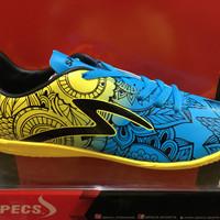 promo sepatu futsal specs flora warna biru kuning ORIGINAL