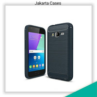 Samsung Galaxy J1 Mini Prime / JC Rubber Carbon Soft Case Casing Cover