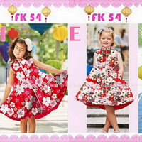 Dress anak import / kekinian / tsum-tsum/hello kitty / frozen/princes