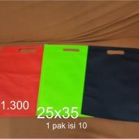 Goodie bag / tas spunbond oval 25 x 35