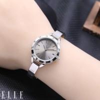 Jam Tangan Wanita / Cewek Elle Fashion Rantai Silver Grey