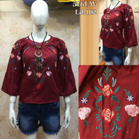 Pakaian blouse katun bordir import zc21