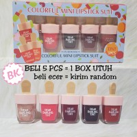 Jual ICE CREAM - Etude House Box 5in1 Dear Darling Tint Es Krim Gel Lip Set Murah