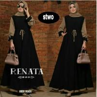 Gamis Renata Dress Baju Panjang Casual Wanita Hijab Baju Modern Trendy