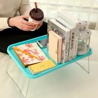 Meja Lipat Laptop Portable Multifungsi Plastik Belajar Makan Serbaguna