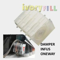 damper dumper infus printer canon HP ink tinta one way