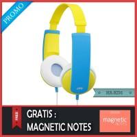 Original JVC HA-KD5 Yellow Headphone For Kids - Garansi Resmi 2 Tahun
