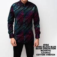 Kemeja pria murah batik songket lengan panjang | baju resmi cowok slim