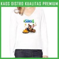 Kaos Wanita Lengan Panjang Game-The Sims 1 WLP-AFS84