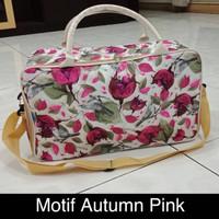 tas Koper Motif Flowers bahan Longchamp
