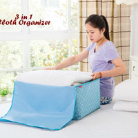 3 in 1 Cloth Organizer BIRU POLKA 1 set isi 3 pcs ukuran berbeda