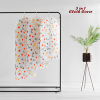 3 in 1 Cloth Organizer FLOWERS (isi 3 cover ukuran berbeda)