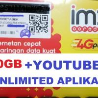 Perdana Indosat 10GB + Unlimited aplikasi