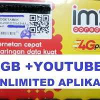 Perdana Indosat UNLIMITED Aplikasi + kuota 7Gb