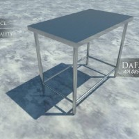 Meja Kerja Stainless dengan Sengkang / Work Table with Cross Bar NEGO