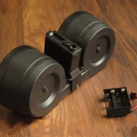 Airsoft Guns M4 Dual Drum C-Mag Magazine elektrik 2500rds