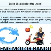 Alarm Motor MP Two Way 2 Arah Remoter Bunyi Stater Jarak Jauh Bagus