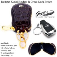 Dompet kunci keyless r croco  DARK BROWN