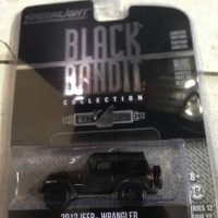 Mainan Diecast Cars Greenlight Black Bandit 2012 Jeep Wrangler 1 64