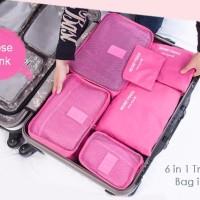6in1 Set Travel Mate Tas Koper Bag Tempat Organizer Pakaian Laundry