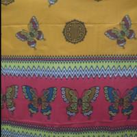 Jual Promo Spesial Pashmina Katun Twotone Motif Kupu-Kupu Batik Murah Murah