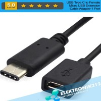 SALE USB Type C to Female Micro USB Extension Cable Adapter 1 Port
