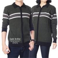 Couple Cardy Tribal Army-Grey / Rajut Couple / Rajut Korea