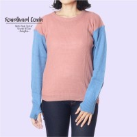 RH Comby DustyBlue / Sweater Rajut / Rajut Murah / Roundhand