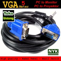 Kabel VGA 5 Meter Male to Male