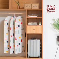 3 in 1 Cloth Organizer GEOMETRY (1 set isi 3 cover ukuran berbeda)