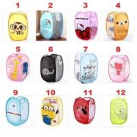 Laundry Bag Box Keranjang Tempat Baju Doraemon Rilakkuma Hello Kitty