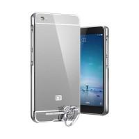 Luxury Bumper Mirror Hard Case Xiaomi Mi5 Mi 5 - Silver