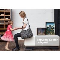 Babymel Diaper Bag Amanda Printed Black & White Daisy T2909