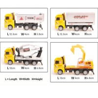 Mainan Anak 4pcs Heavy Contruction Yellow Truck Mobil Mobilan Anak