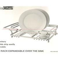 Krischef Rak Piring Wastafel Dish Rack dari Alumunium dan Hemat Tempat