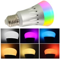 WIFI Smart RGB LED Bulb/Lampu Control with Android/Alexa/Google Home