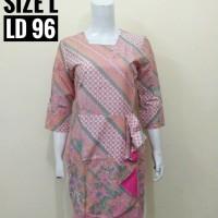 INDB071 Liesha Premium Dress Batik Remaja Katun Baju Wanita Murah