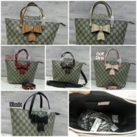 Gucci Supreme Bow Tote Bag / Hand Bag Mini / Kecil / Tas Wanita Murah
