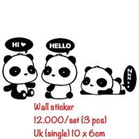 wall sticker stiker paper wallsticker wallpaper hiasan panda