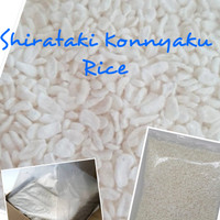Low Carbs Shirataki Konnyaku Rice/ Beras Shirataki Rendah Kalori 250gr