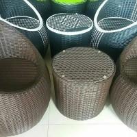 Sofa Rotan Sintetis Ruang Tamu Model Gentong Kursi Rotan Minimalis