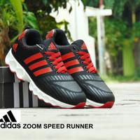 Sepatu Adidas Zoom Speed Runner GRADE ORI Hitam Merah Lari Gym