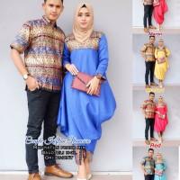 batik couple batik modern baju muslim kaftan vanessa