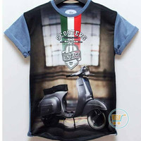 KAOS PRIA IMPORT SCOOTERS VINTAGE