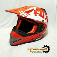 helm trail anak model fox
