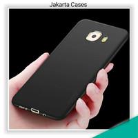 Samsung Galaxy C9 / C9 Pro /JC Thin Black Matte Soft Case Casing Cover