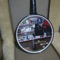 kaca miror cermin dinding bulat alat cukur rambut salon barbershop k