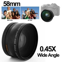 Lensa Kamera Super Wide Angle with Macro 58mm for Canon
